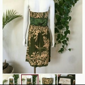 Tracy Reese Dresses - Tracy Reese sz 6 Silk Embroidered Strapless Dress